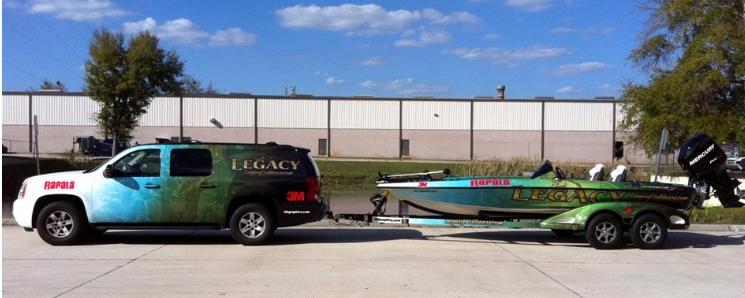attractive custom boat truck graphics