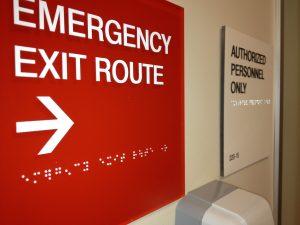 custom emergency signage