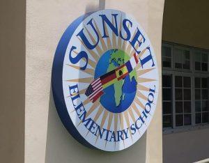 custom school sign