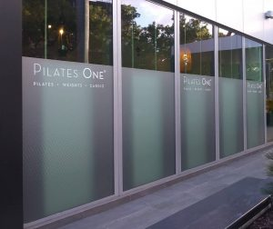 Custom frosted privacy film